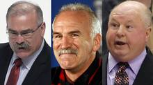 Ottawa Senators coach Paul MacLean, Joel Quenneville of the Chicago Blackhawks and Bruce Boudreau of the Anaheim Ducks