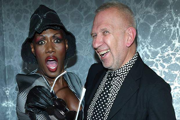 Grace Jones and Jean Paul Gaultier.