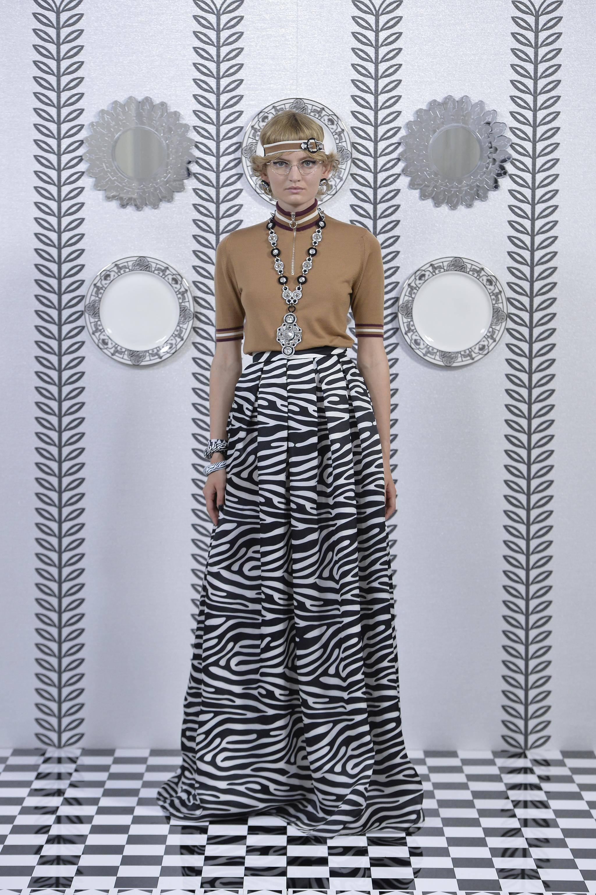 1a7aa53d7a Holly Fulton went wild with maximal maxi skirts in her spring 2018  presentation.
