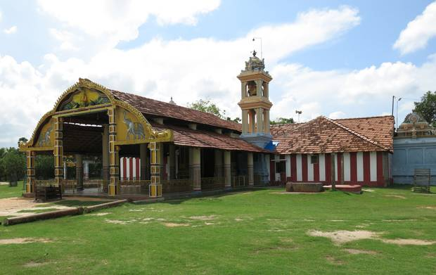 Piliyar Temple in Atchuvely, where my dad grew up. He attended this temple daily as a boy.