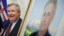 Former Alberta Premier Ralph Klein attends the unveiling of his official portrait at the Alberta Legislature Rotunda in Edmonton on August 30, 2007. Mr. Klein passed away at the age of 70 on March 29, 2013. (John Ulan/The Canadian Press)