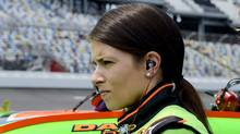 In this July 1, 2011, file photo, Danica Patrick gets ready to race during qualifying for the NASCAR Nationwide Series auto race at Daytona International Speedway in Daytona Beach, Fla. (Phelan M. Ebenhack/AP Photo/Phelan M. Ebenhack)