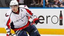 Alexander Ovechkin is expected back in the Washington lineup for Tuesday's game with the New York Rangers after missing six games with what's believed to be a shoulder injury. (Kevin C. Cox/2009 Getty Images)