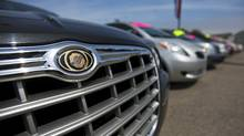 Cars are seen at a Chrysler car dealership in Toronto, April 30, 2009. (MARK BLINCH/MARK BLINCH/REUTERS)