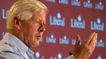 Interim Liberal leader Bob Rae delivers a speech during the Liberal Summer Caucus at Chateau Montebello in Quebec on Wednesday, September 5, 2012 (Sean Kilpatrick/The Canadian Press)