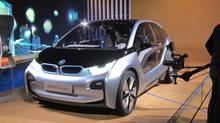 The BMW i3 was conceived to be solely battery-powered but a gasoline engine will be optional.