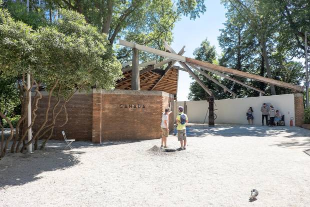 Currently under a $3-million renovation to be completed after the 2017 Biennale is over, Canada's diminutive home base has been compared to a wigwam and a Parks Canada information centre.