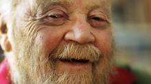 Farley Mowat, 89, in his Port Hope, Ont. home on Oct. 13, 2010. (Peter Power/The Globe and Mail)