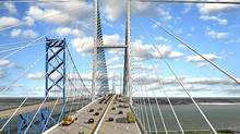 Detroit International Bridge Co. Owner of Ambassador Bridge proposes to build a six-lane twin to its existing structure.