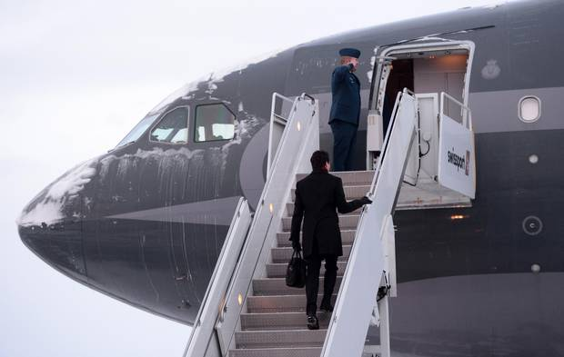 Prime Minister Justin Trudeau is seen departing from Ottawa.