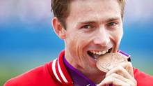 Canada's Mark Oldershaw celebrates his bronze medal win at the 2012 London Olympics. (Kevin Van Paassen/The Globe and Mail)