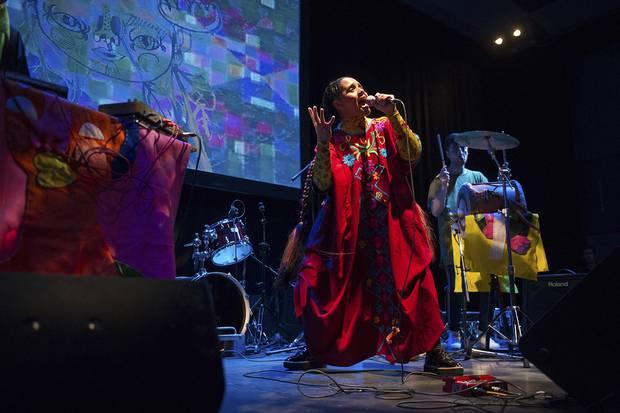 Lido Pimienta performs at Venus Fest in Toronto.