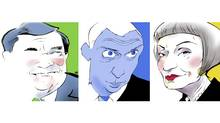 Jim Flaherty, Oleg Deripaska and Maureen Sabia (Anthony Jenkins/The Globe and Mail)