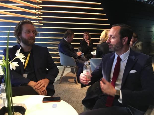 Matt Bubbers talks to Infinit designer Karim Habib. Infiniti car designer. Handout taken By Didier Marsaud Director Corporate Communication Nissan Canada Inc.