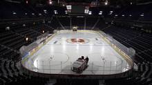 An empty rink in Calgary is seen in this file photo. (CP)