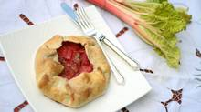 Lucy Waverman's strawberry rhubarb galette. (Tim Fraser for The Globe and Mail)