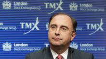London Stock Exchange (LSE) CEO Xavier Rolet speaks during a news conference regarding the attempted merger of the TSX and the LSE in Toronto, Feb. 9, 2011. (Mark Blinch/Reuters/Mark Blinch/Reuters)