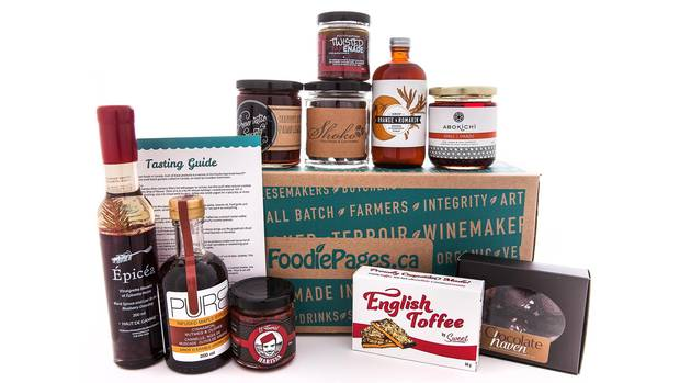 A foodie gift box from Foodie Pages.