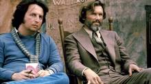 "Michael Cimino and Kris Kristofferson on the set of ""Heaven's Gate"""