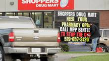 A Shoppers Drug Mart in London, Ont. (GEOFF ROBINS For The Globe and Mail)