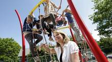 Children play at the Jericho Kids Club in Vancouver in June 2010. (Lyle Stafford for The Globe and Mail)