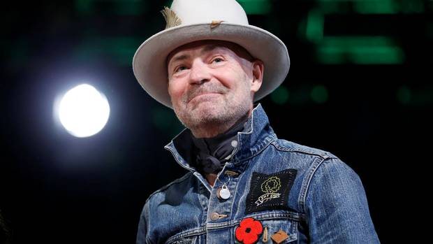 Tragically Hip singer Gord Downie takes part in an honouring ceremony at the Assembly of First Nations Special Chiefs Assembly in Gatineau. Downie passed away October 18 after a battle with brain cancer. He was 53.
