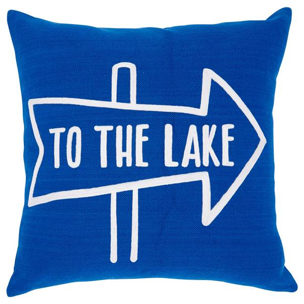 To the Lake pillow cover, $39.50 at Indigo (www.chapters.indigo.ca)