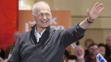 NDP Leader Jack Layton waves to supporters at a rally Saturday, April 16, 2011, in St.John's, NL. (Jacques Boissinot/ The Canadian Press/Jacques Boissinot/ The Canadian Press)