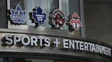 Exteriors of Air Canada Centre and the entrance to Maple Leaf Sports and Entertainment which is located there. (Fred Lum/Fred Lum/The Globe and Mail)