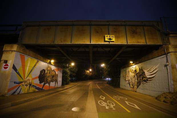 Local and visiting artists are producing 13 Synonym murals this month in Winnipeg.