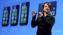 Joe Belfiore, corporate vice president of Microsoft, introduces the Windows Phone 8 mobile operating system in San Francisco, California, June 20, 2012. REUTERS/Noah Berger (NOAH BERGER/REUTERS)