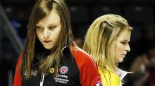 It's likely Ontario skip Rachel Homan and Manitoba skip Jennifer Jones will meet again with more on the line in Kingston. (MARK BLINCH/REUTERS)