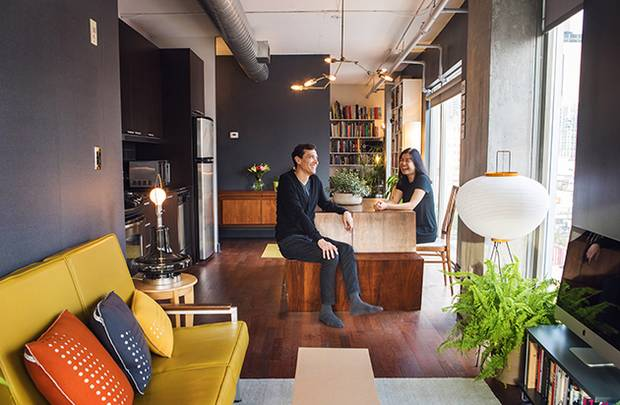 Katy Chey and Javier Viteri are seen in their Toronto condo.