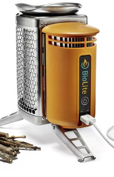 The BioLite Camp Stove can boil one litre of water in less than five minutes – and charge your smartphone or camera. $135; all items available at mec.ca. (MEC)