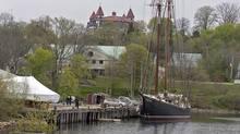 Bluenose II, Nova Scotia's sailing ambassador, waits in port in Lunenburg, N.S. on Wednesday, May 28, 2014.