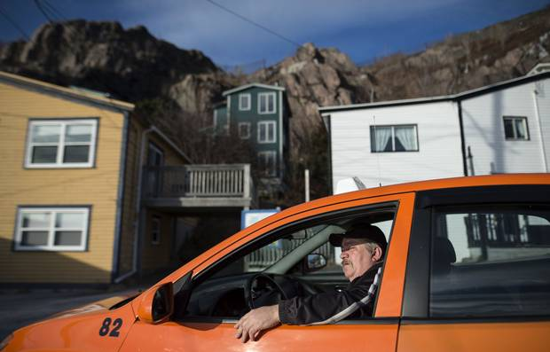 Cab driver Don Butler waits on Outer Battery Road in St. John's.