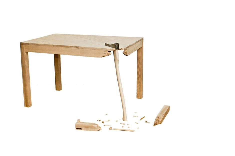 Broken Furniture Accentuates The Beauty Of Imperfection
