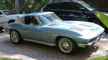 While it looks like an oriiginal 1963 Corvette Sting Ray, Rick Springfield's car has been extensively modified.