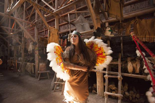 An Indigenous woman dances in Wendake, a First Nations community on the outskirts of Quebec City.