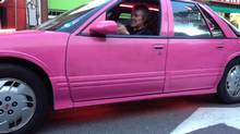 Love it or hate it, Dean Northcott's pink Cutlass is a magnet for attention. (Peter Cheney/The Globe and Mail)