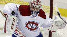 'Goaltending is a weird position. Some nights you really feel it, some nights you don't,' Montreal Canadiens goalie Carey Price says. It has been a trying three weeks for the 25-year-old, whose Habs play the Maple Leafs in Toronto on Saturday, the final game of the regular season for both teams. (Gene J. Puskar/AP)