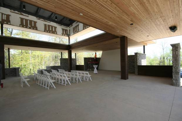 The new Guild Inn features a large outdoor event space.