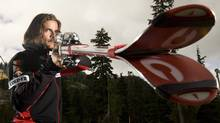 Canadian National Ski Cross team member Nik Zoricic of Toronto, Ont. poses for a photo following a media event at Cypress Mountain, in North Vancouver, B.C., on Sept. 15, 2009. (Jonathan Hayward/The Canadian Press/Jonathan Hayward/The Canadian Press)
