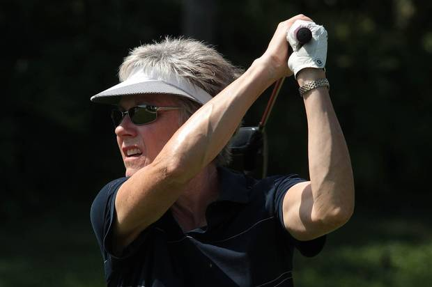 Anne Murray, seen playing golf in 2011, can still be found on the links with friends. She swims a few times a week, practices yoga and works out with a trainer. 'I am very fit,' she proudly proclaims.