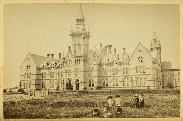 Knox College photographed in 1882.