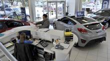 A Hyundai dealership in Mississauga. (J.P. MOCZULSKI FOR THE GLOBE AND MAIL)