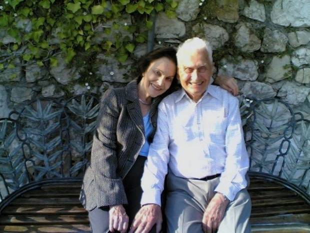 Sonja and Thomas at his 90th birthday in Èze, France.