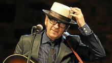 Elvis Costello performing in July of 2010 in Spain. (AFP/Getty Images)