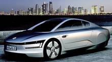Concept photo of Formula XL1 plug-in diesel electric two-seater. (Volkswagen)