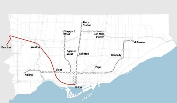 Toronto Dream Subway Map.Toronto S Grand Transit Plan Maybe Hopefully The Globe And Mail